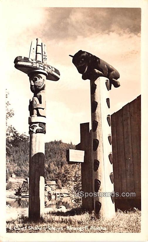 Chief Shakes - Wrangell, Alaska AK Postcard