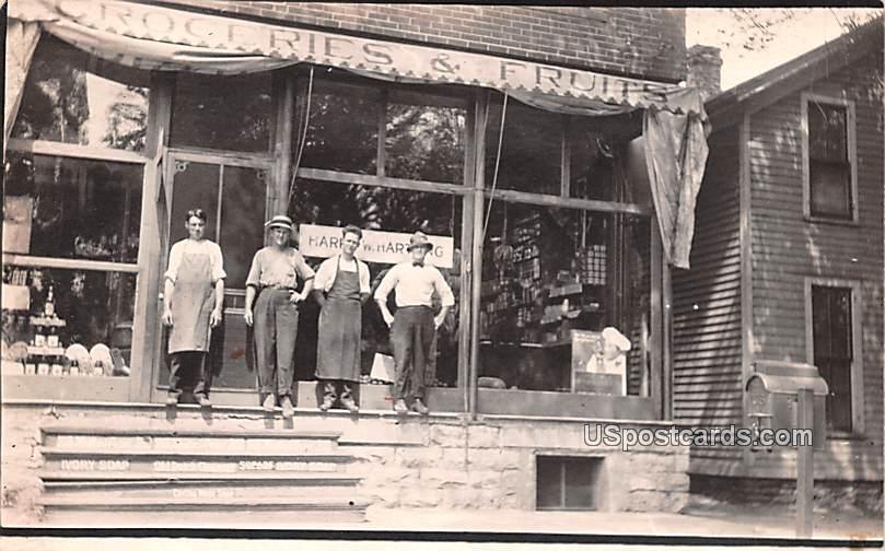 Groceries and Fruits - Anniston, Alabama AL Postcard