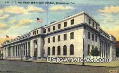 US Post Office - Birmingham, Alabama AL Postcard