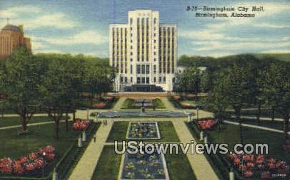 Birmingham City Hall - Alabama AL Postcard