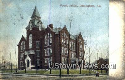 Powell School - Birmingham, Alabama AL Postcard