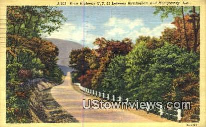 Dixie Highway - Birmingham, Alabama AL Postcard