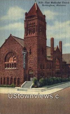 First Methodist Church - Birmingham, Alabama AL Postcard
