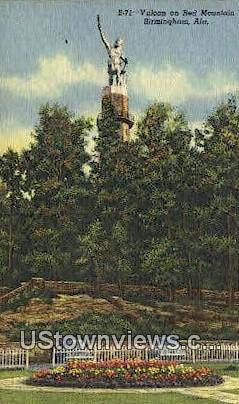 Vulcan & Red Mountain - Birmingham, Alabama AL Postcard