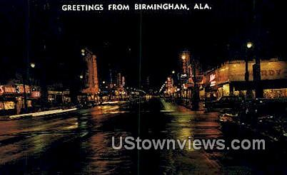 4th Ave. - Birmingham, Alabama AL Postcard