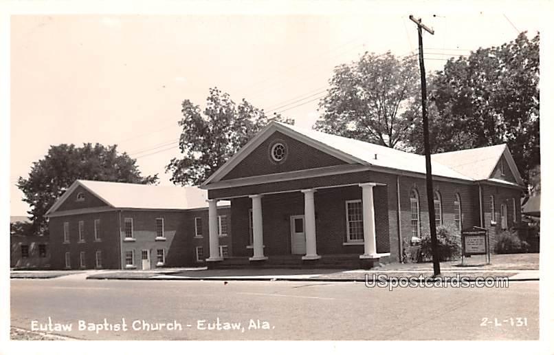 Eutaw Baptist Church - Alabama AL Postcard