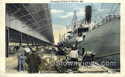 Shipping Cotton - Mobile, Alabama AL Postcard