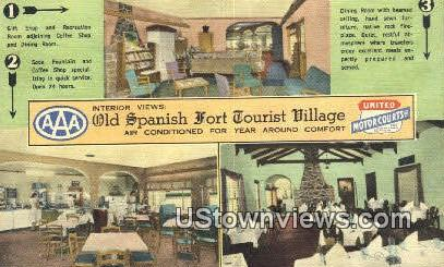 Old Spanish Fort Tourist Village - Mobile, Alabama AL Postcard