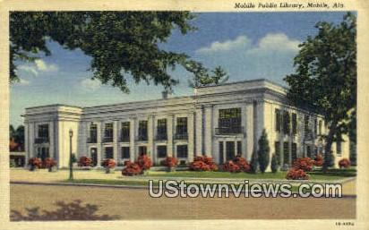 Mobile Public Library - Alabama AL Postcard