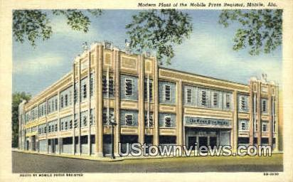 Modern Plant, Mobile Press Register - Alabama AL Postcard