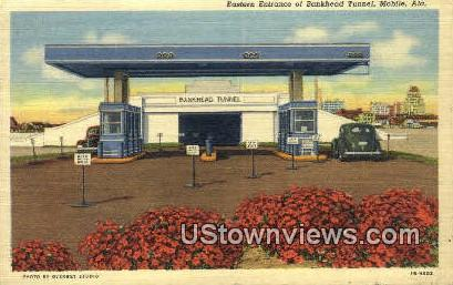 Bankhead Tunnel - Mobile, Alabama AL Postcard