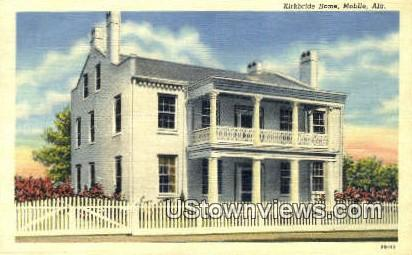 Kirkbridge Home - Mobile, Alabama AL Postcard