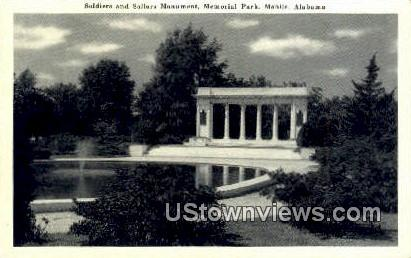Soldiers & Sailors Memorial - Mobile, Alabama AL Postcard