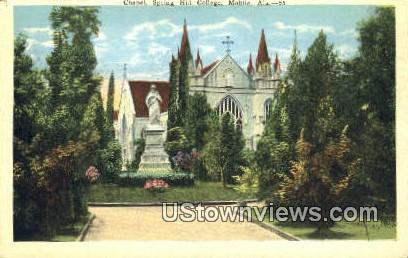 Chapel, Spring Hill College - Mobile, Alabama AL Postcard