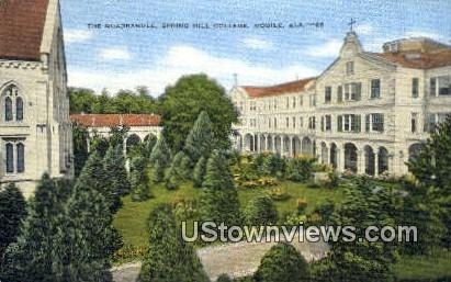 Quadrangle, Spring Hill College - Mobile, Alabama AL Postcard