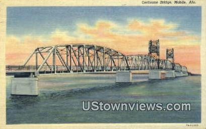 Cochrane Bridge - Mobile, Alabama AL Postcard