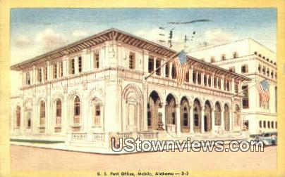 US Post Office - Mobile, Alabama AL Postcard
