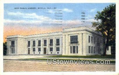 New Public Library - Mobile, Alabama AL Postcard