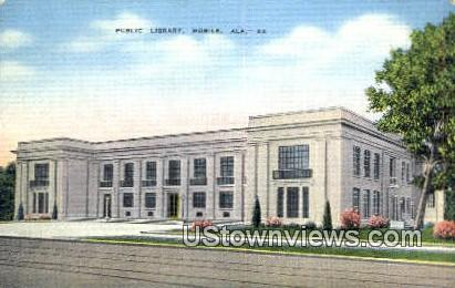 Public Library - Mobile, Alabama AL Postcard