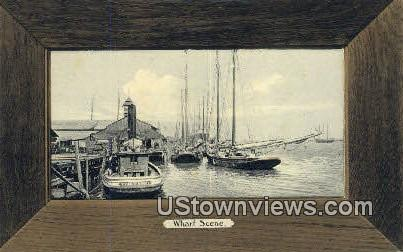 Wharf Scene - Mobile, Alabama AL Postcard