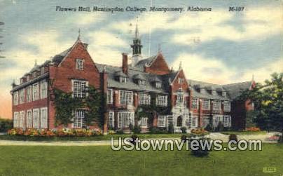 Folwers Hall, Huntingdon College - Montgomery, Alabama AL Postcard