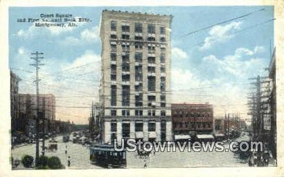 First National Bank Bldg - Montgomery, Alabama AL Postcard