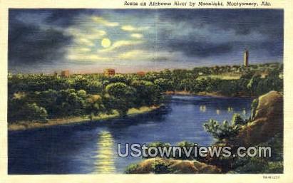 Alabama River - Montgomery Postcard