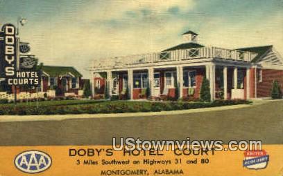 Doby's Hotel Court - Montgomery, Alabama AL Postcard