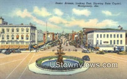 Dexter Ave, State Capitol - Montgomery, Alabama AL Postcard