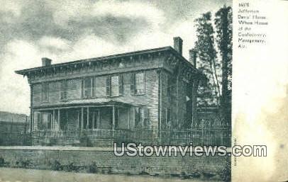 Jefferson Davis' Home, White House - Montgomery, Alabama AL Postcard