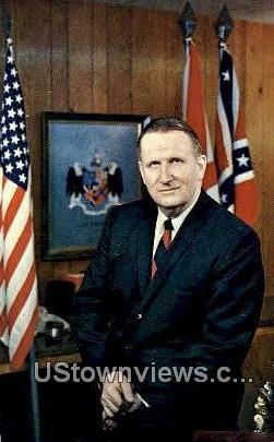 Jim Allen, Lt Governor of Alabama - Montgomery Postcard