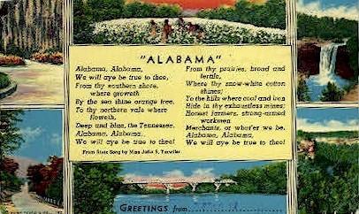 Alabama   - Misc Postcard