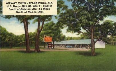 Airway Motel - Wagarville, Alabama AL Postcard