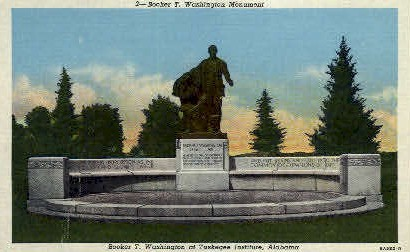 Booker T. Washington Monument - Tuskegee Institute, Alabama AL Postcard