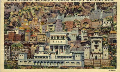 St. Bernad College - Cullman, Alabama AL Postcard
