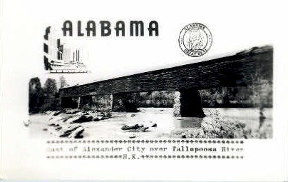 Tallapoosa River - Alexander City, Alabama AL Postcard