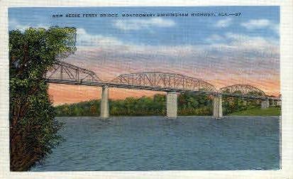 New Reese Ferry Bridge - Birmingham, Alabama AL Postcard