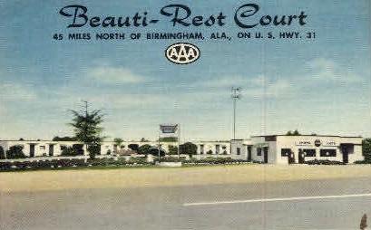 Beauti-Rest Court - Birmingham, Alabama AL Postcard