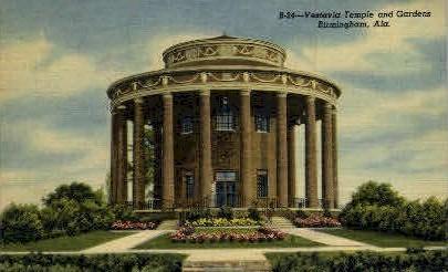 Vestavia Temple - Birmingham, Alabama AL Postcard