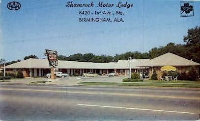 Shamrock Motor Lodge - Birmingham, Alabama AL Postcard