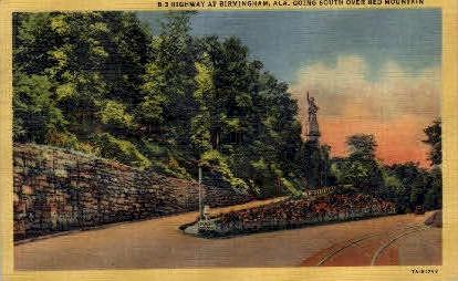 B-3 Highway - Birmingham, Alabama AL Postcard