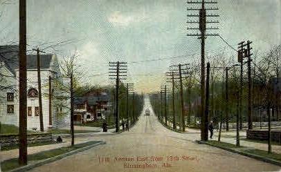 11th Avenue - Birmingham, Alabama AL Postcard