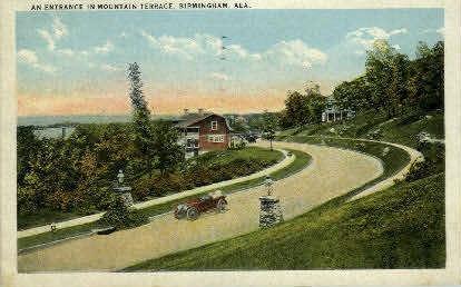 Mountain Terrace - Birmingham, Alabama AL Postcard