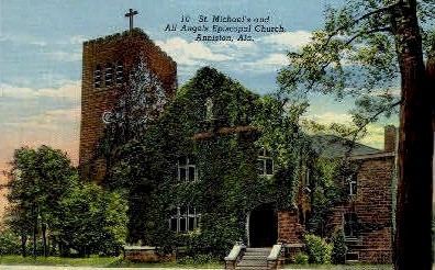 St. Michael's Episcopal Church - Anniston, Alabama AL Postcard