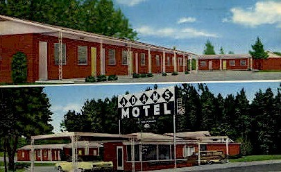 Adams Motel - Dothan, Alabama AL Postcard