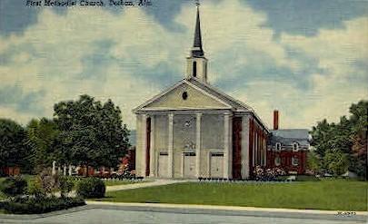 First Methodist Church - Dothan, Alabama AL Postcard