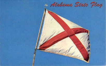 Alabama State Flag - Bessemer Postcard