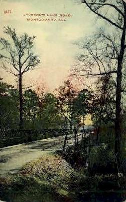 Jackson's Lake Road - Montgomery, Alabama AL Postcard