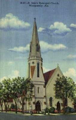 St. John's Episcopal Church - Montgomery, Alabama AL Postcard