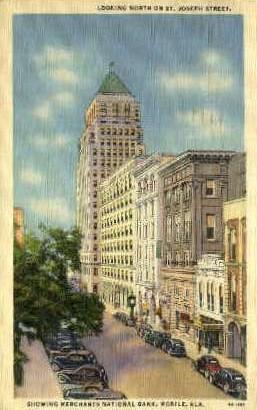 St. Joseph Street - Mobile, Alabama AL Postcard